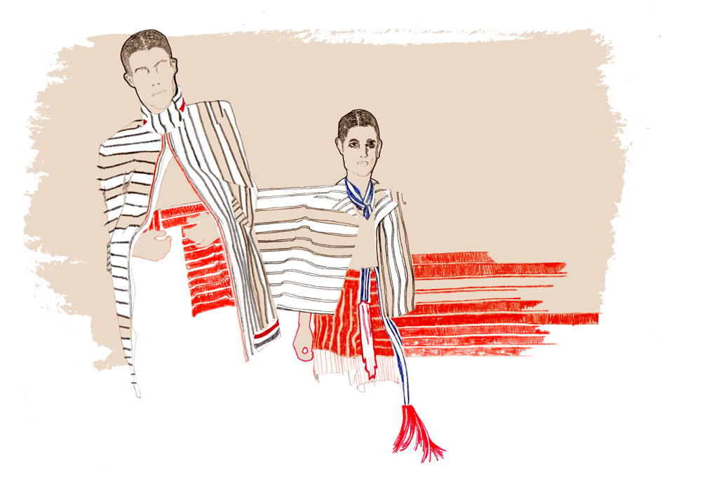 Thom Browne Illustration by Holly Monger