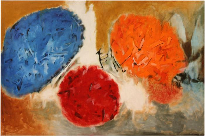 Aubrey Williams, Shostakovich 10th Symphony, Opus 93, 1981, oil on canvas, 163 x 245 cm