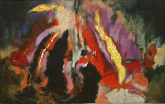 Aubrey Williams, Shostakovich 6th Quartet, Opus 101, 1981, oil on canvas, 132.1 x 208.3 cm
