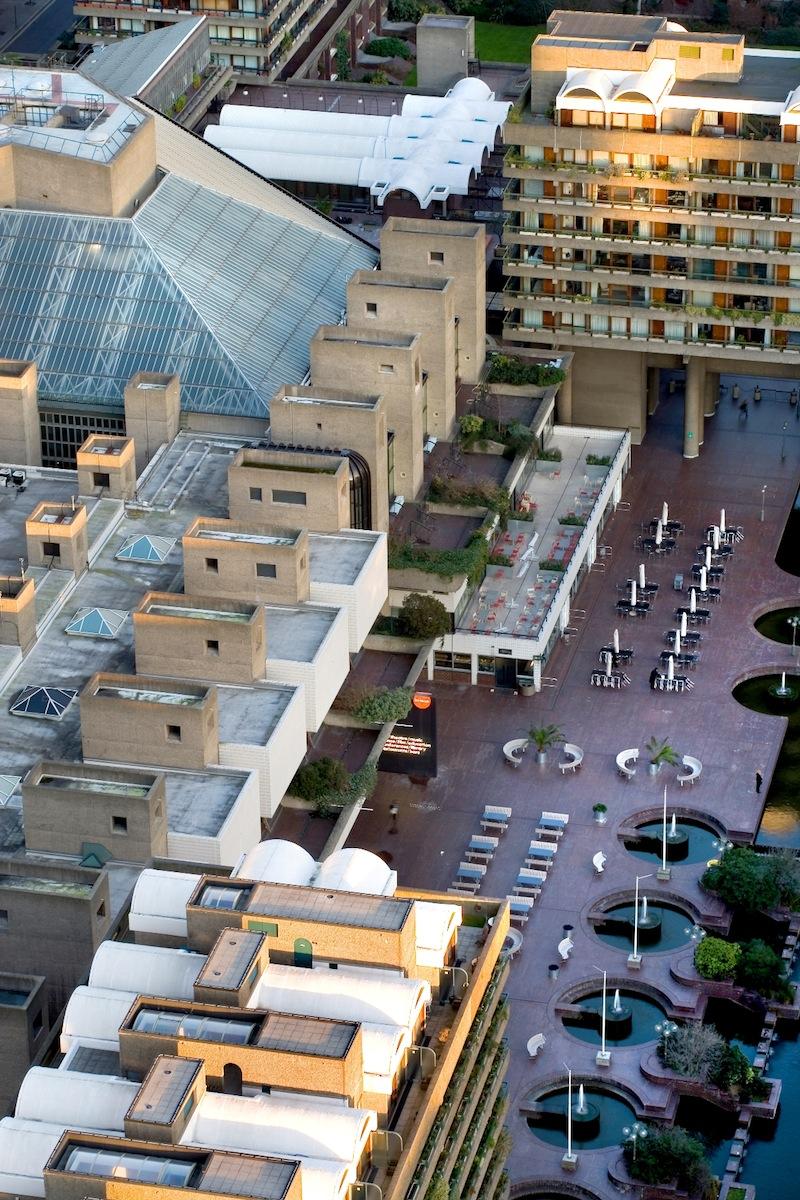 Aerial view of the Barbican Centre © Morley Von Sternberg