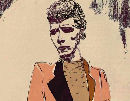 David Bowie Illustration by Olivia Darlington