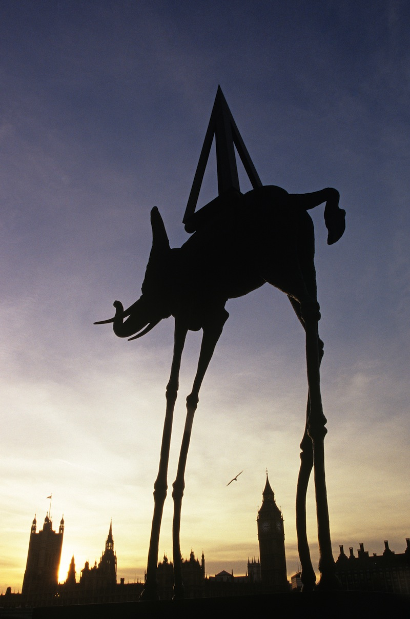 Dali space elephant sculpture in London