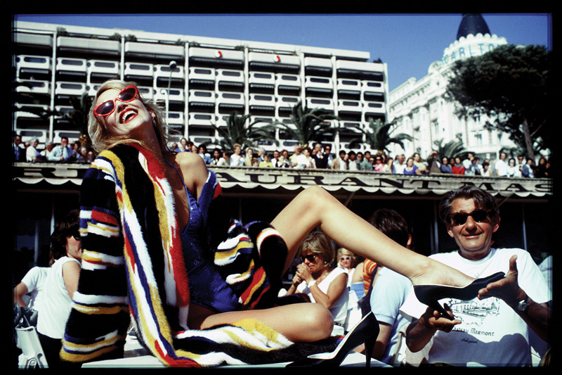 Jerry Hall and Helmut Newton, Cannes by David Bailey 1983