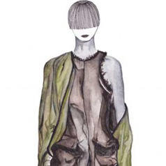 Haider Ackermann AW 13-14 Illustration by Tamara Venn