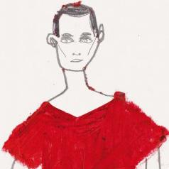 Jil Sander AW 13-14 Illustration by Frances Stanfield
