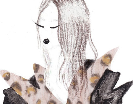 Trussardi AW 13-14 Illustration by Natasha Wigoder