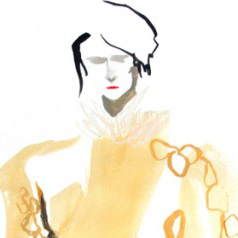 Veronique Leroy AW 13-14 Illustration by Bee Davies