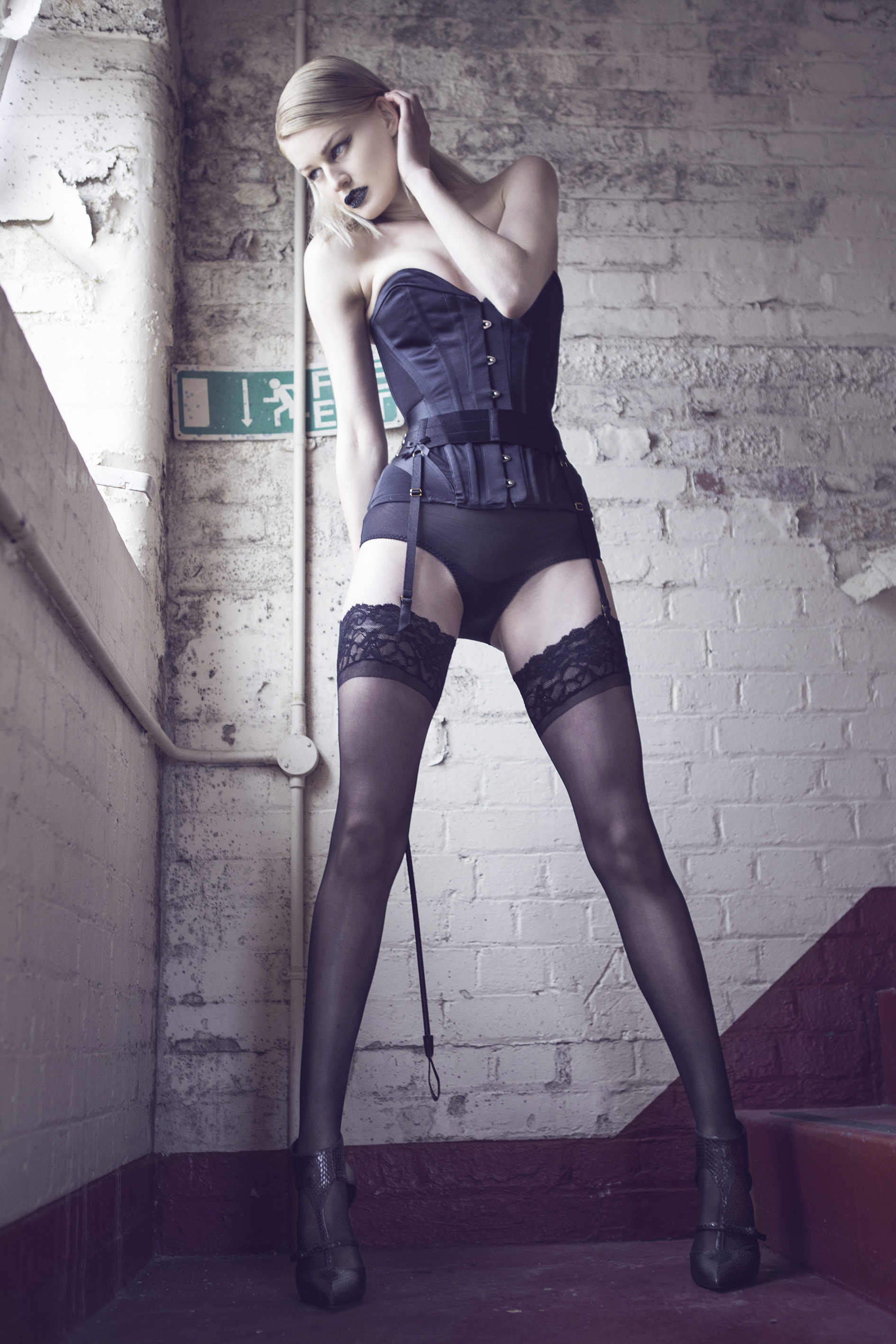 For Suspenders stockings and heels can believe