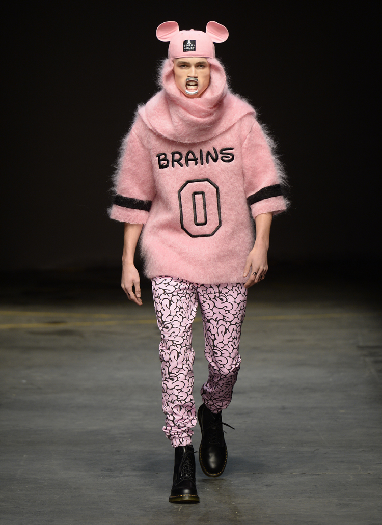 Bobby Abley AW14 at MAN Look 5, photo by Catwalking