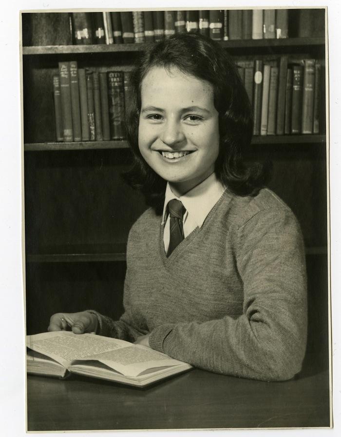 Jacqueline Wilson School photograph age 14©Jacqueline Wilson