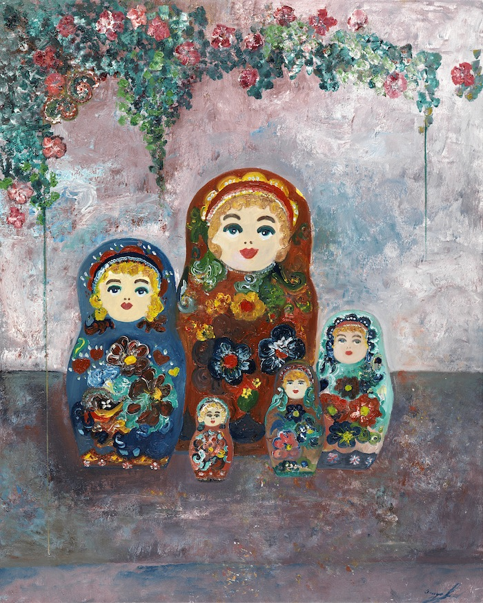 Matryoshki oil on canvas 71 x 61 cm
