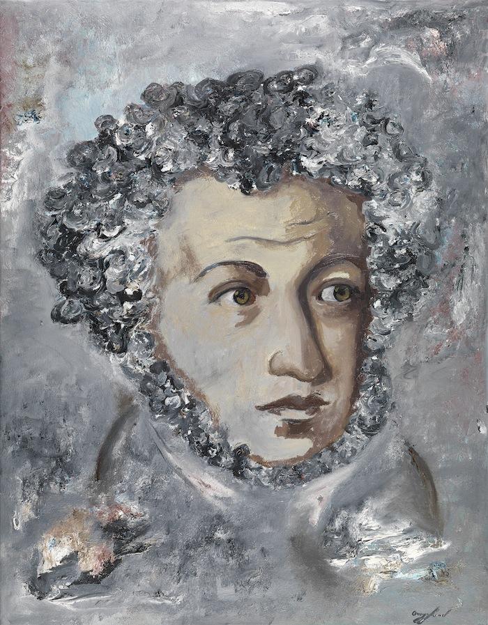 Pushkin Oil On Canvas 91 x 71 cm