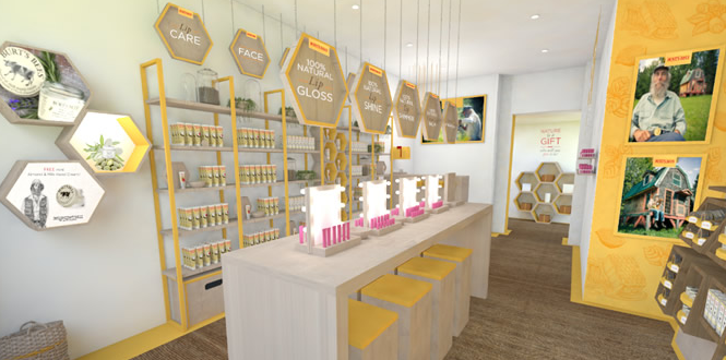 Burts Bees London Store - interior