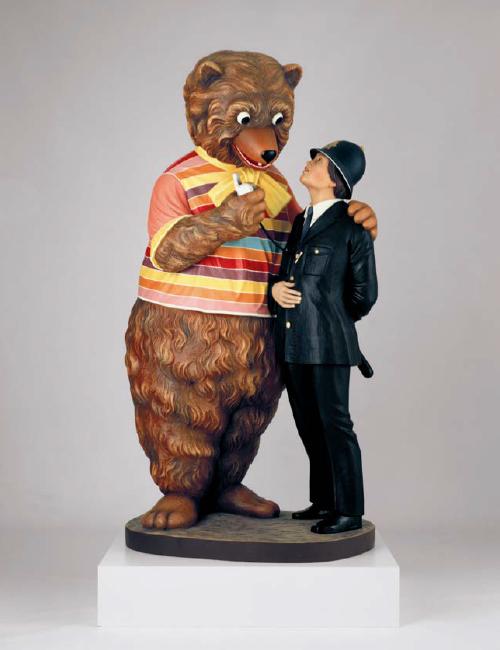 Jeff Koons, Bear and Policeman, 1988