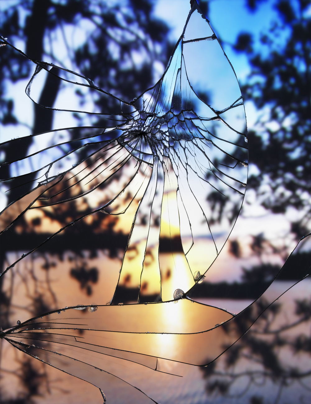 Broken MIrror_Evening Sky(Agfachrome)