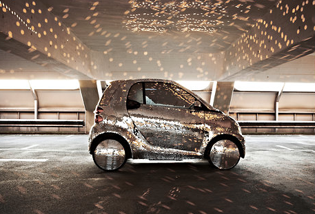 MIRRORED DISCO BALL SMARTCAR