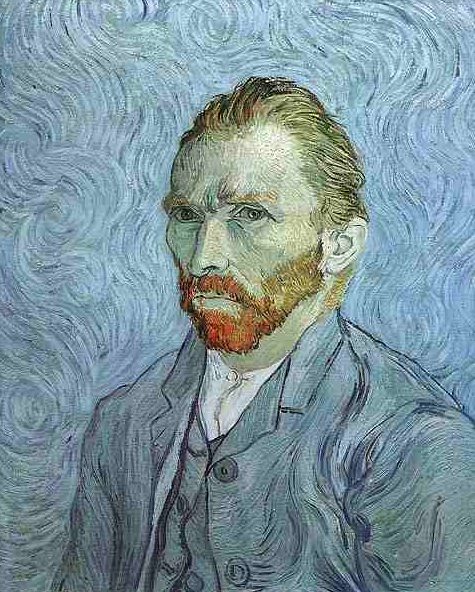 Painting Title: Self Portrait 1889 Oil on Canvas, 65 x 54cm - 25 x 21 Inches (approx) Vincent van Gogh