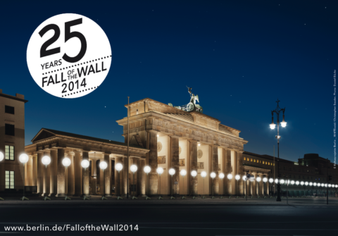 Lichtgrenze: an installation in celebration of 25 years of the Fall of the Berlin Wall