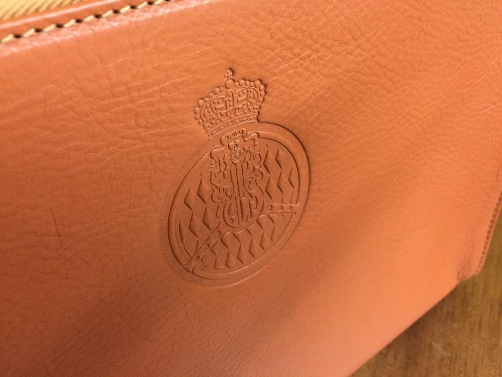ACM Logo Blind embossed shoulder leather