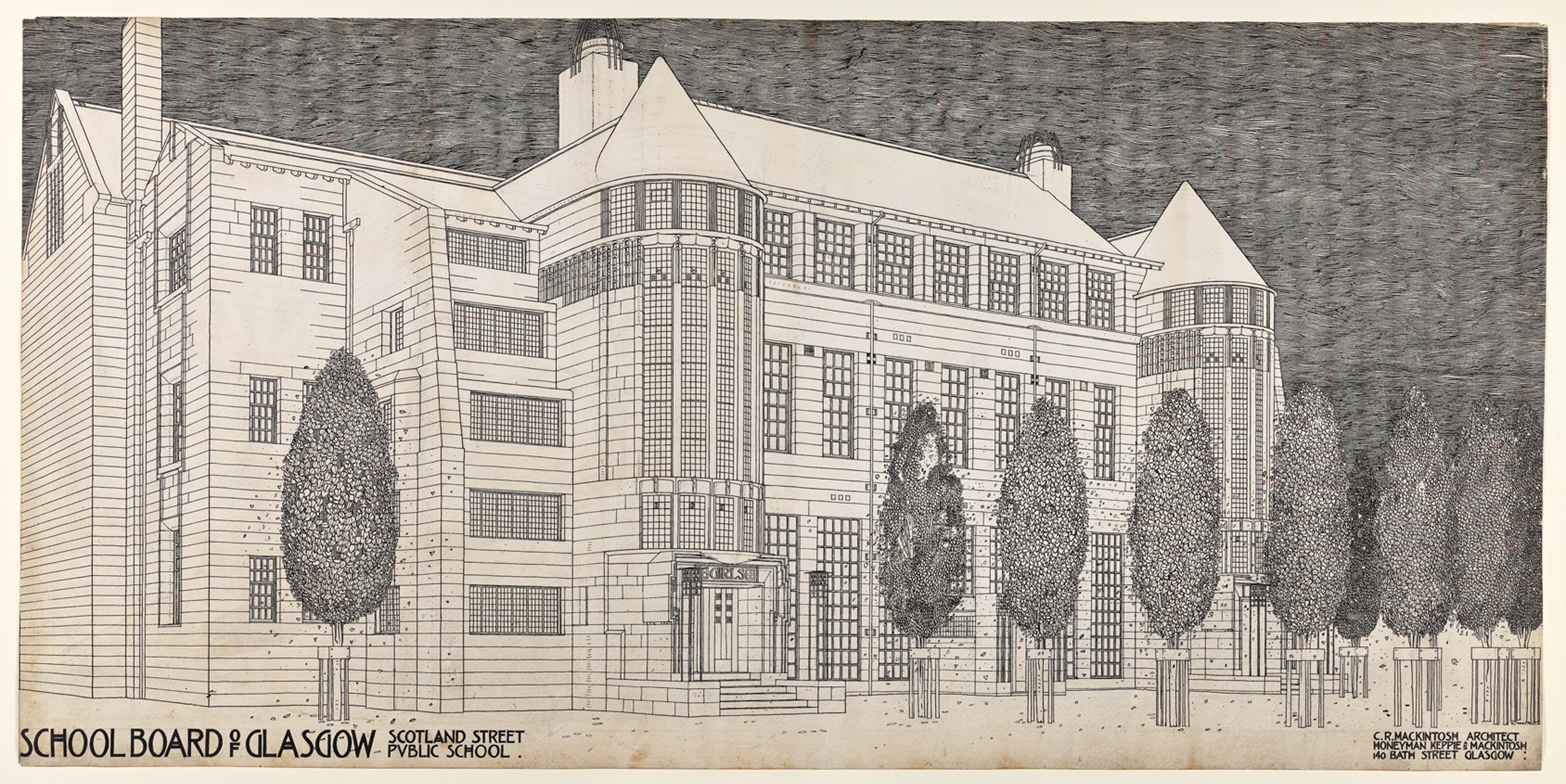 Design for Scotland Street School. (c) The Huntarian, University of Glasgow