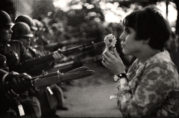 Young Girl Holding Flower, Demonstration Against the War in Vietnam, Washington 1967 © Marc Riboud  Magnum Photos
