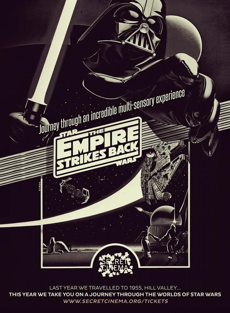 POSTER Secret Cinema Presents Star Wars The Empire Strikes Back