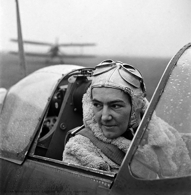 web Anna Leska, Air Transport Auxilliary, Polish pilot flying a spitfire, England 1942 by Lee Miller (4327-45)