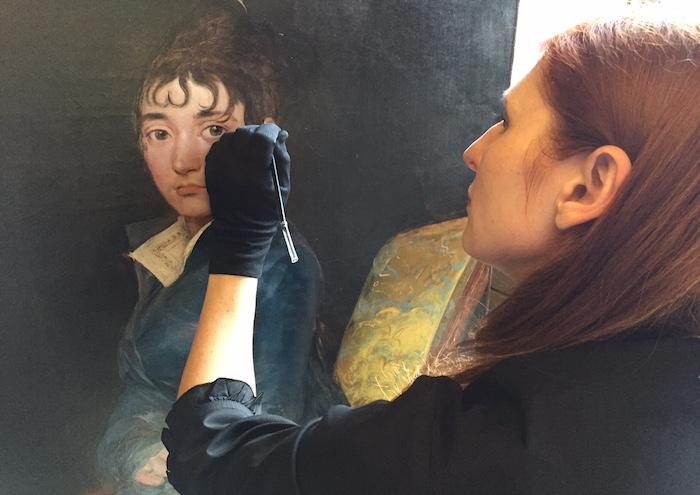 EOS GOYA Visions of Flesh & Blood_Joanna Dunn_Painting Conservator at National Gallery of Washington DC_Thérèse Lo uise de Sureda, Goya (1804-1806) © Seventh Art Productions