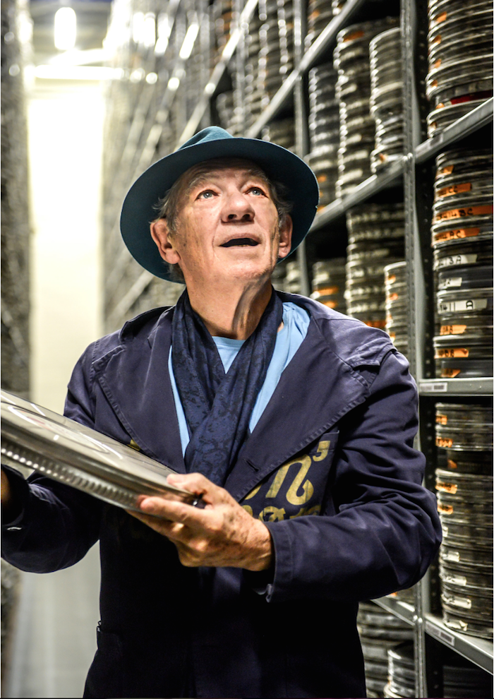 Ian McKellen at the BFI National Archive for Shakespeare on Film, October 2016