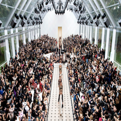 What is happening to the traditional catwalk show?