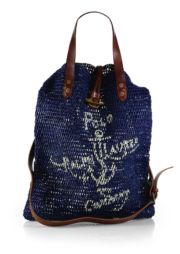 indigo jute bag by polo ralp lauren