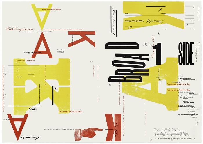 Broadside number 1, range of stationery, 1988smm