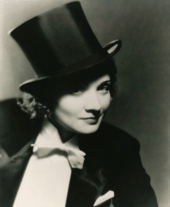 Marlene Dietrich's iconic use of masculine attire influences Batliwalla's book