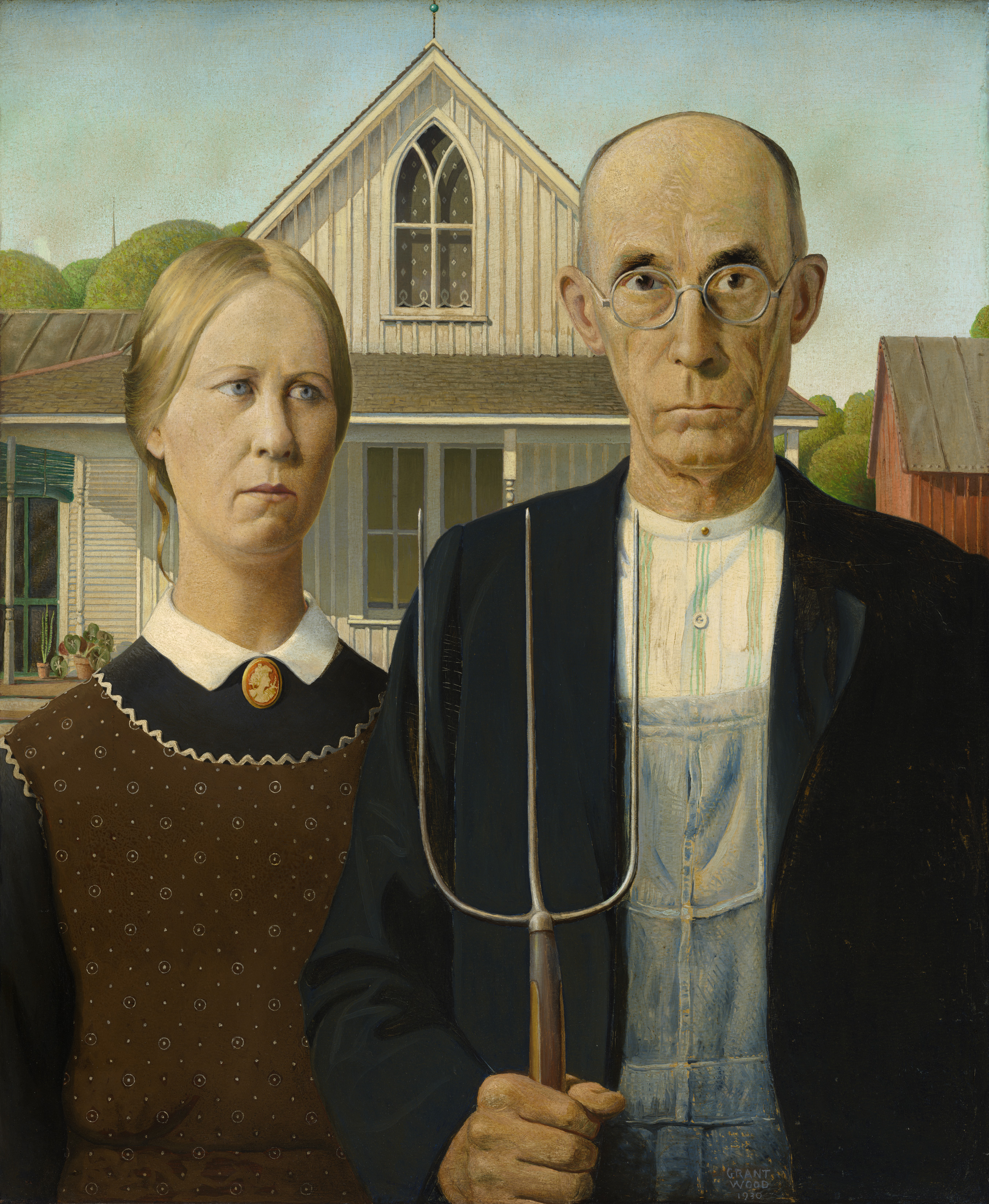 Grant Wood, 'American Gothic'
