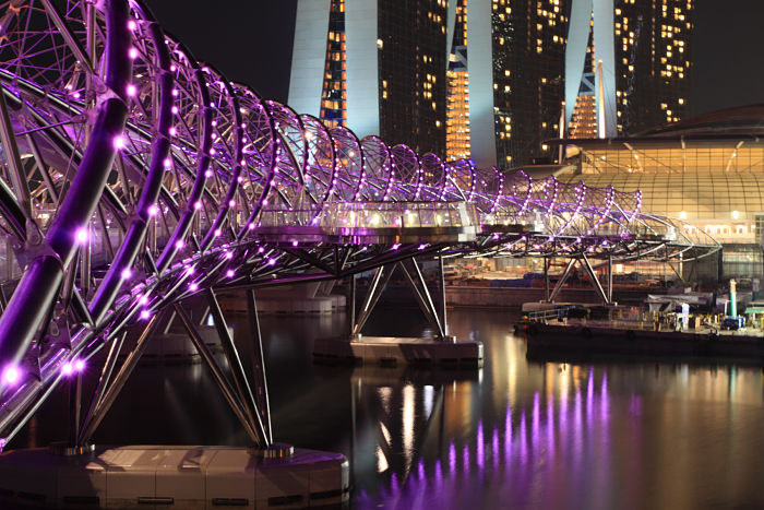 Helix Bridge @ night