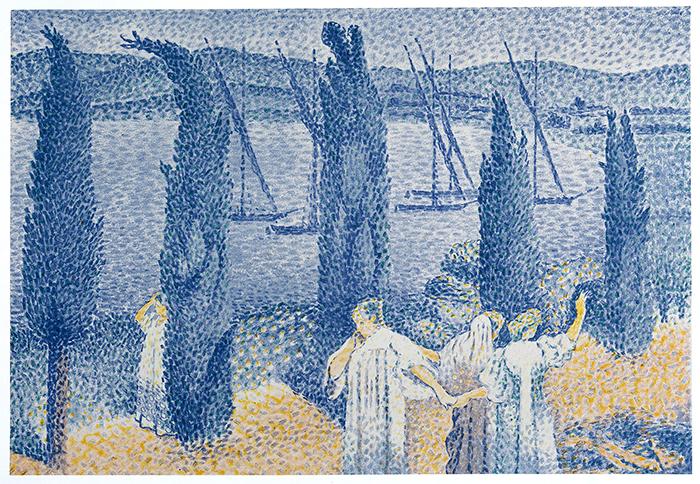 Cross---La-promenade,-bord-de-mer-ou-le-cypres-1897
