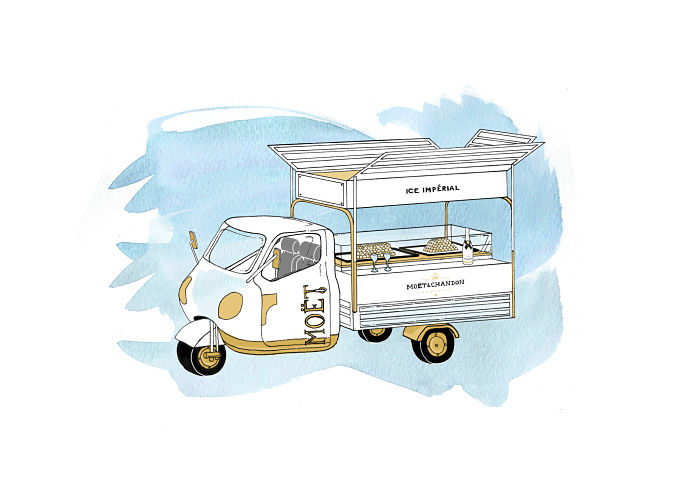 Moet Ice Truck at Bluebird - Illustration_opt