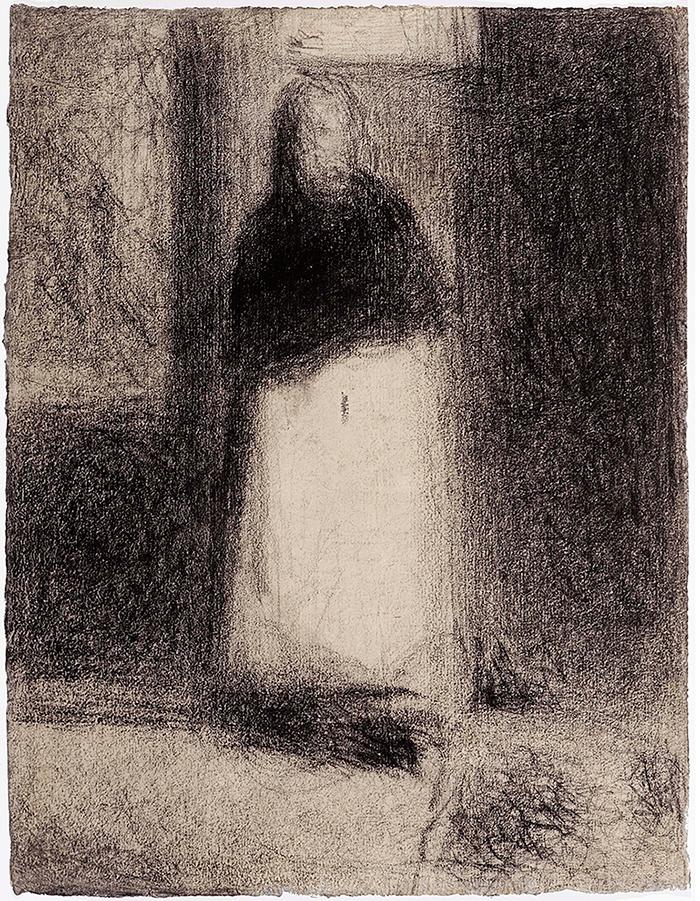 Seurat---La-concierge-vers-1884