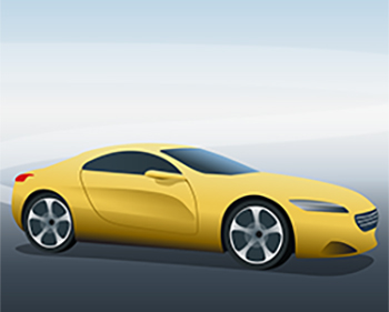 yellow sports car copy