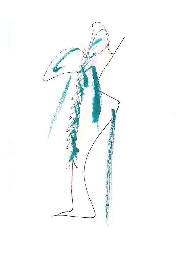 Sketch for Lady Gaga by Giuseppe Zanotti