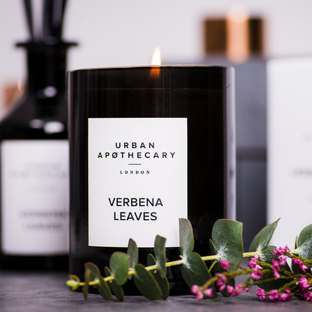 new verbena leaves candle