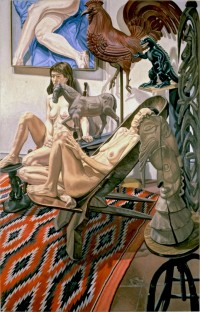 1. Philip Pearlstein, MODELS WITH GODZILLA, ETC., 1990 © Philip Pearlstein. Courtesy Betty Cuningham Gallery