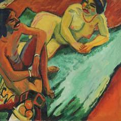 03. M. Pechstein_Weib mit Inder auf Teppich_1910