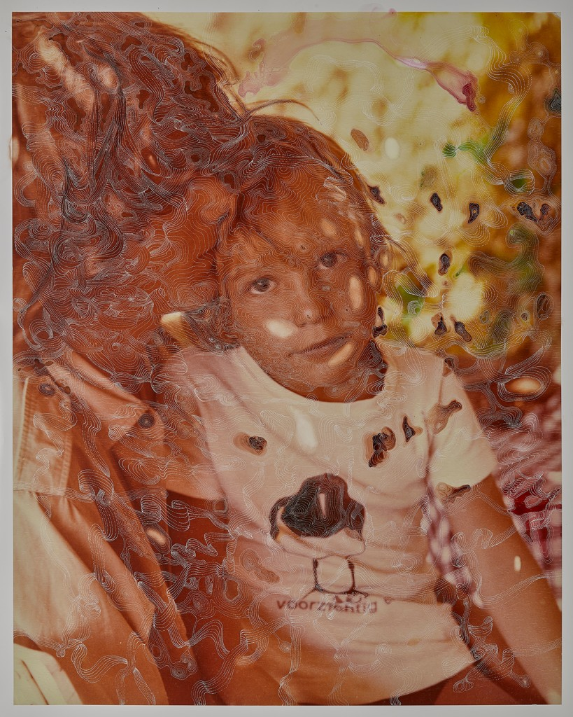 Sebastiaan Bremer, Gold (Brother), 2017, Archival inkjet pigment print on resin coated paper with hand additions in pigment pen and photo retouch dye, 128.3 x 101 cm