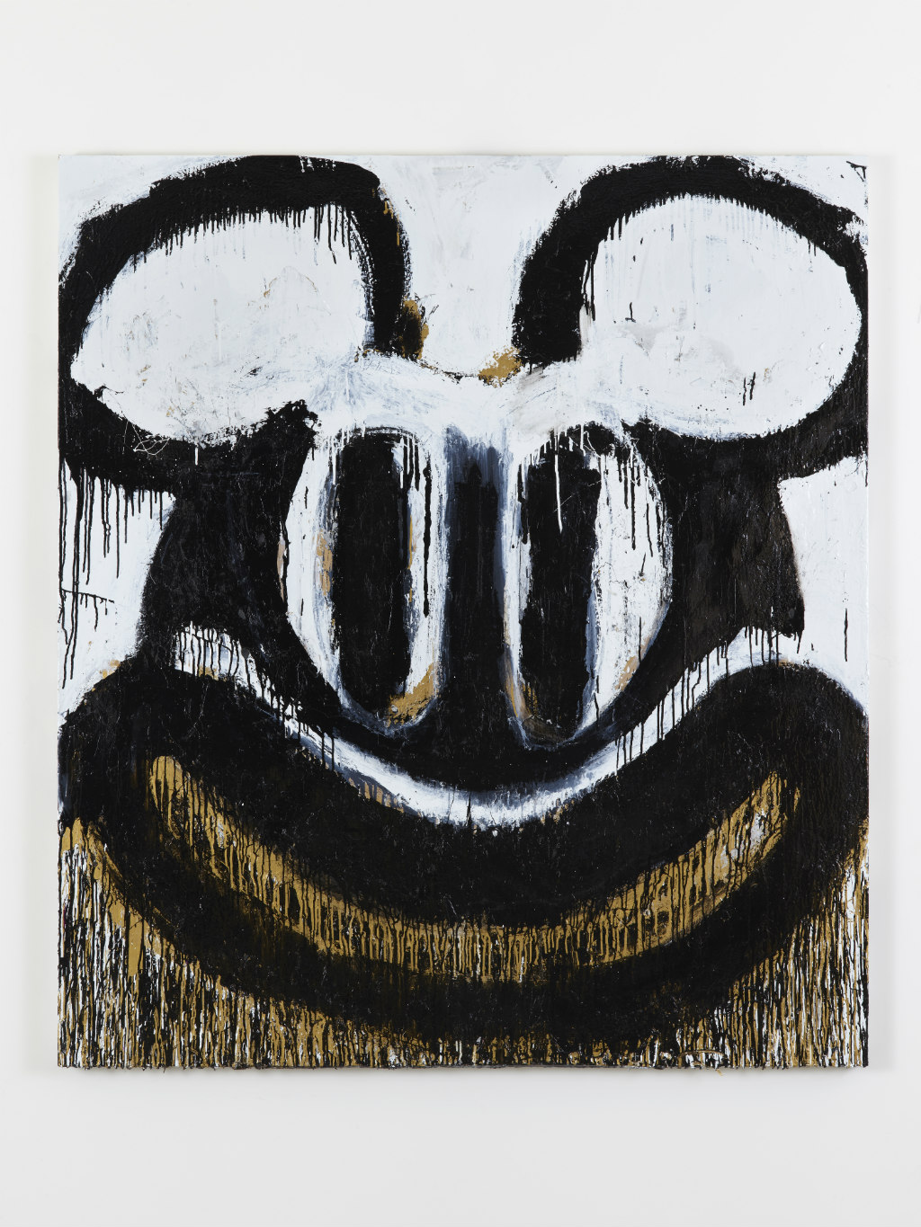 Joyce-Pensato-Black-and-White-Mickey