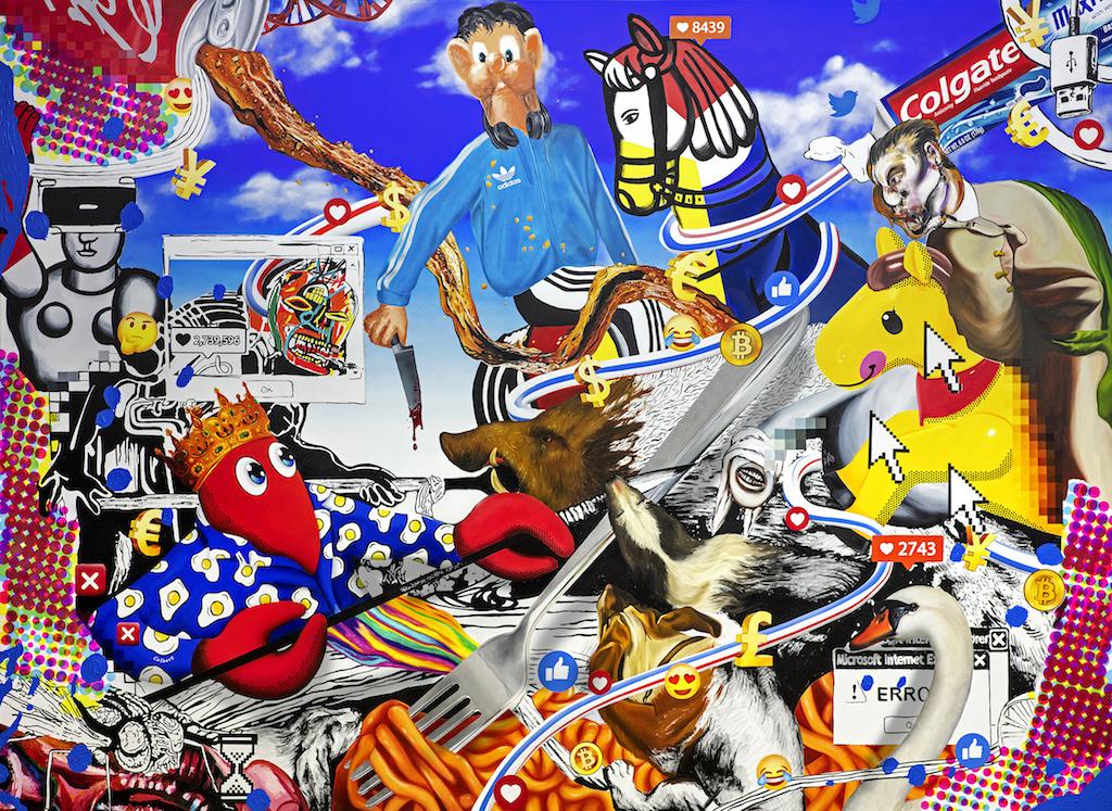 Hunt Paintings -Boar Hunt II-wr-270x195mm-s