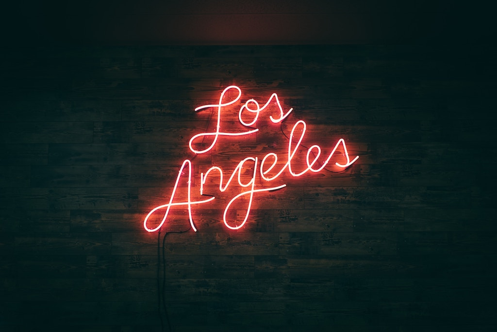 Los Angeles Neon on a Wall