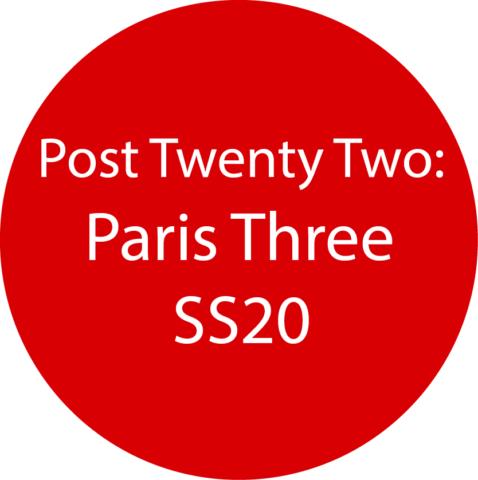 Paris 3 SS20