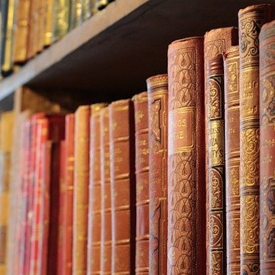 Classic books on a shelve