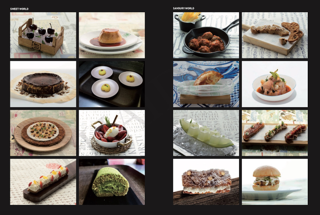 Collage of fine dining dishes from What is Cooking book